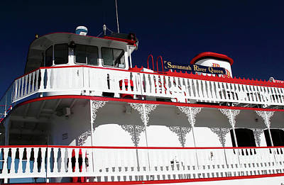 Steamboat Photograph - Savannah River Queen by John Rizzuto