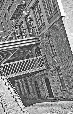 Photograph - Savannah River Walk Stories Black And White by Carol Groenen