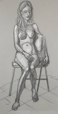 Drawing - Savannah Seated #1 by Donelli  DiMaria