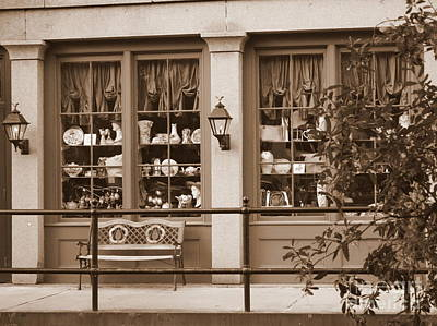 Katharine Hepburn - Savannah Sepia - Antique Shop by Carol Groenen