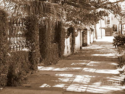 Photograph - Savannah Sepia - Sunny Sidewalk by Carol Groenen