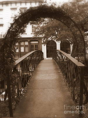 Photograph - Savannah Sepia - Arched Bridge by Carol Groenen