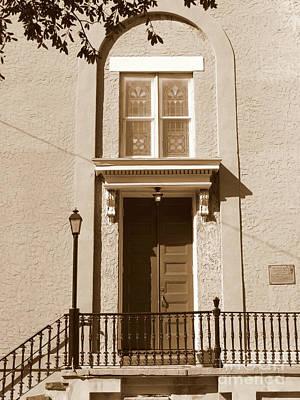 Photograph - Savannah Sepia - Baptist Church by Carol Groenen