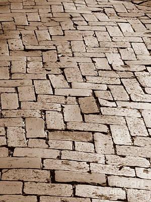 Photograph - Savannah Sepia - Brick Walkway by Carol Groenen
