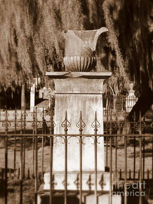 Photograph - Savannah Sepia - Colonial Park Cemetery by Carol Groenen