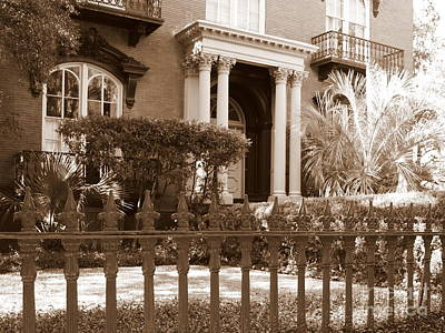 Photograph - Savannah Sepia - Mercer House by Carol Groenen