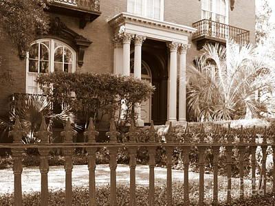 Photograph - Savannah Sepia - Mercer House by Carol Groenen