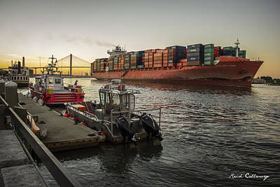 Savannah Shipping And Safety  Print by Reid Callaway