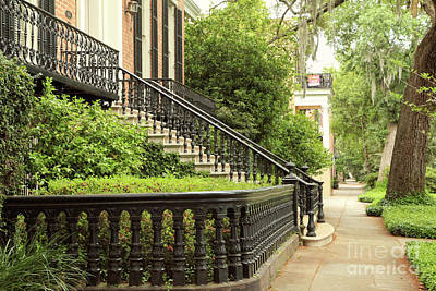 Photograph - Savannah Sidewalk by Heather Green