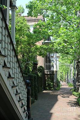 Photograph - Savannah Sidewalk With Stoops by Carol Groenen