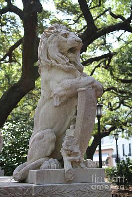 Photograph - Savannah Square Lion by Carol Groenen