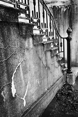 Photograph - Savannah Stairway Black And White by Renee Sullivan