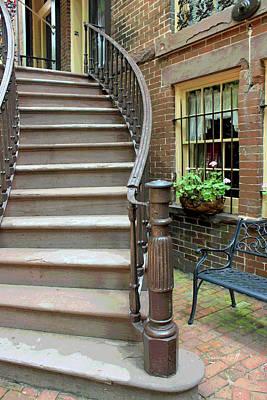 Historic Architecture Digital Art - Savannah Stairway II by Suzanne Gaff