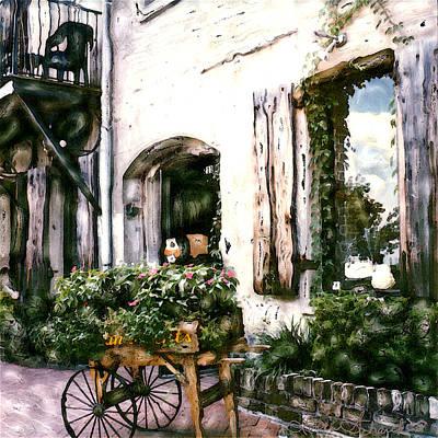 Storefront Mixed Media - Savannah Storefront by Linda Scharck