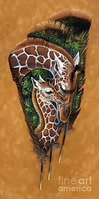 Savannah Tenderness Art Print by Sandra SanTara