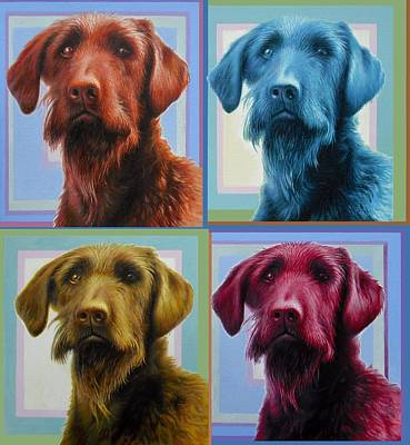 Labradoodle Painting - Savannah The Labradoodle by Hans Droog