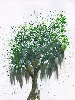 Painting - Savannah Oak Tree - Spanish Moss by Frank Bright