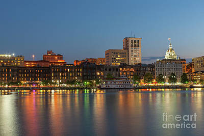 Photograph - Savannah Twilight Skyline IIi by Clarence Holmes