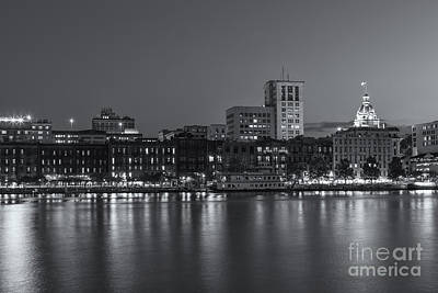 Photograph - Savannah Twilight Skyline Iv by Clarence Holmes