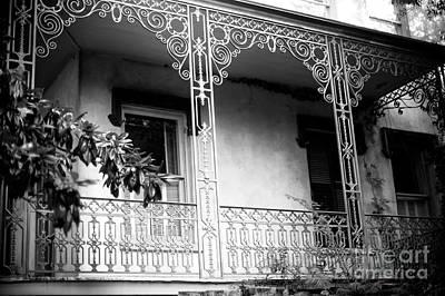 Photograph - Savannah Wrought Iron Balcony by John Rizzuto
