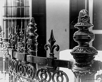Photograph - Savannah Wrought Iron Fence by Melissa Bittinger