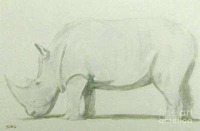 Painting - Save A Rhino by Stacy C Bottoms