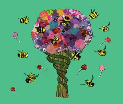 Digital Art - Save The Bees by Alisha at AlishaDawnCreations
