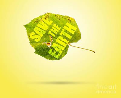 Environment Mixed Media - Save The Earth by Boris Bonev