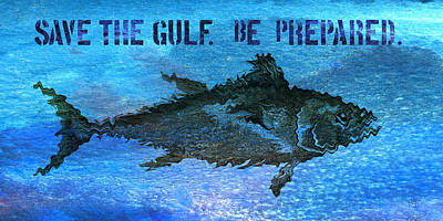 Mixed Media - Save The Gulf America 2 by Paul Gaj