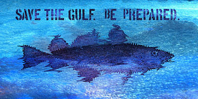 Save The Gulf America Art Print