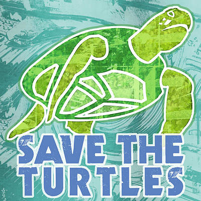 Save The Turtles Art Print