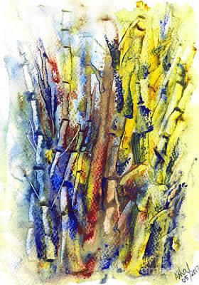 Painting - Save Trees Bamboo by Asha Sudhaker Shenoy