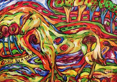 Painting - Saved By A Horse by Dianne  Connolly