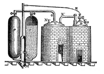 Steam Turbine Wall Art - Photograph - Saverys Steam Engine, 1698 by Science Source