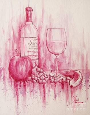 Saviah White Wine Original by Paul Henderson