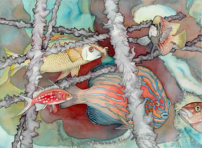 Bekman Wall Art - Painting - Saving The Reefs by Liduine Bekman