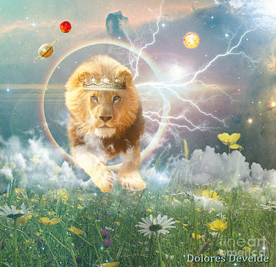 Digital Art - Savior King by Dolores Develde