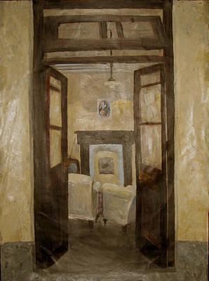 Painting - Savitri Guesthouse by Art Nomad Sandra  Hansen