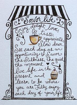 Painting - Savor Life by Elizabeth Robinette Tyndall