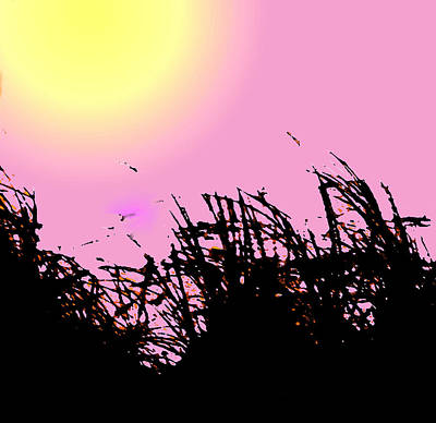 Digital Art - Saw Grass by Ian  MacDonald