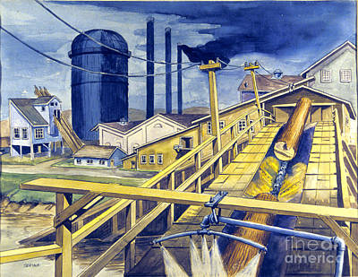 Saw Mill Painting - Saw Mill by Stephen Serina