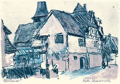 Painting - Sawabian Village,muelhausen,rural Scenery by Martin Stankewitz