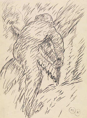 Modernism Drawing - Sawing Wood by Marsden Hartley