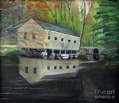 Painting - Sawmill At Moore State Park - Paxton Massachusetts by John Black