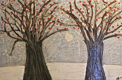 Painting - Sawsan's Trees by Mario MJ Perron