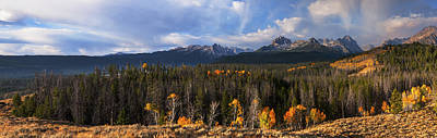 Photograph - Sawtooth Autumn Panorama In Stanley Idaho Usa by Vishwanath Bhat