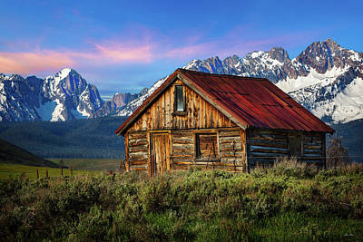 Photograph - Sawtooth Cabin by C Steele