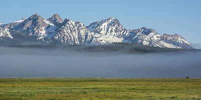 Photograph - Sawtooth Fog by Aaron Spong