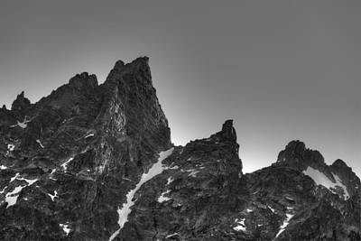 Craggy Photograph - Sawtooth Range Grand Tetons by Steve Gadomski