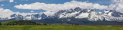 Photograph - Sawtooth Range Panorama 2 by Aaron Spong
